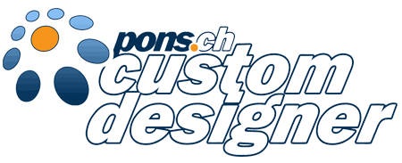 pons.ch - custom designer